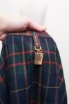 Navy blue wool blend maxi skirt