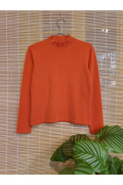 Pure cashmere high neck sweater
