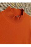 Pure cashmere high neck sweater