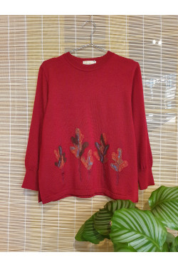 Pure wool embroidery sweater