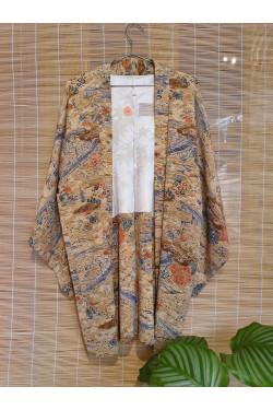 Vintage kimono floral pattern